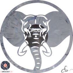 Handmade Vinyl Record Art - Elephant by Cb375