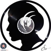 Handmade Vinyl Record Art - Princess Leia