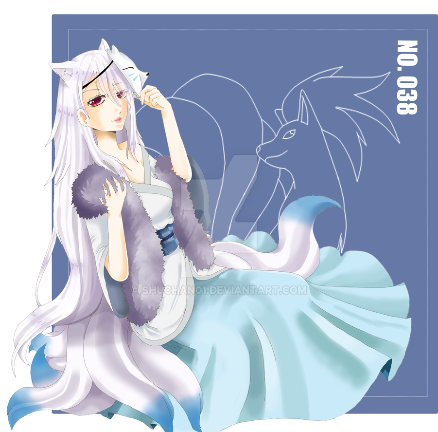 [Shiny] Ninetales Gijinka : Safaia by shuchan01 on DeviantArt