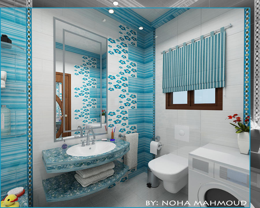 Kids bathroom by noha m hamdi on deviantart for Bathroom decor ideas for kids