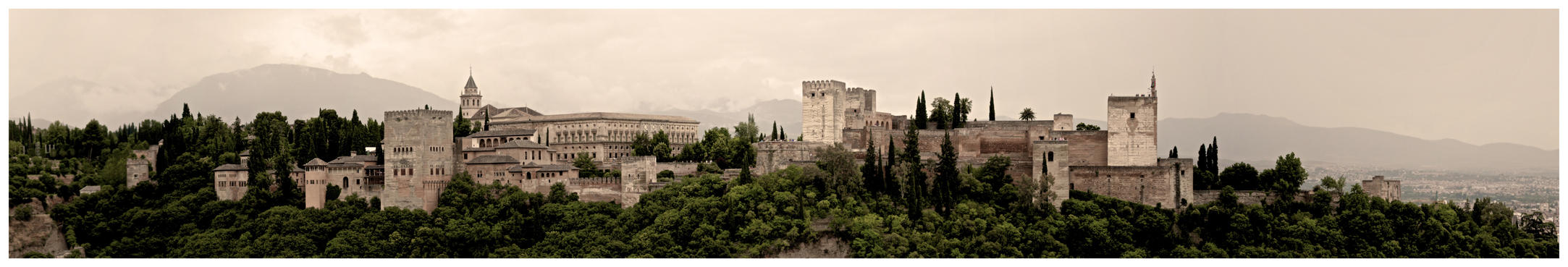 The Alhambra from the Albaicin by EMCEJ