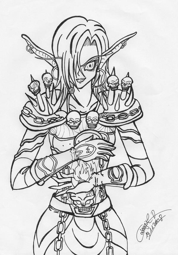 warcraft coloring pages - warcraft warlock pages coloring pages