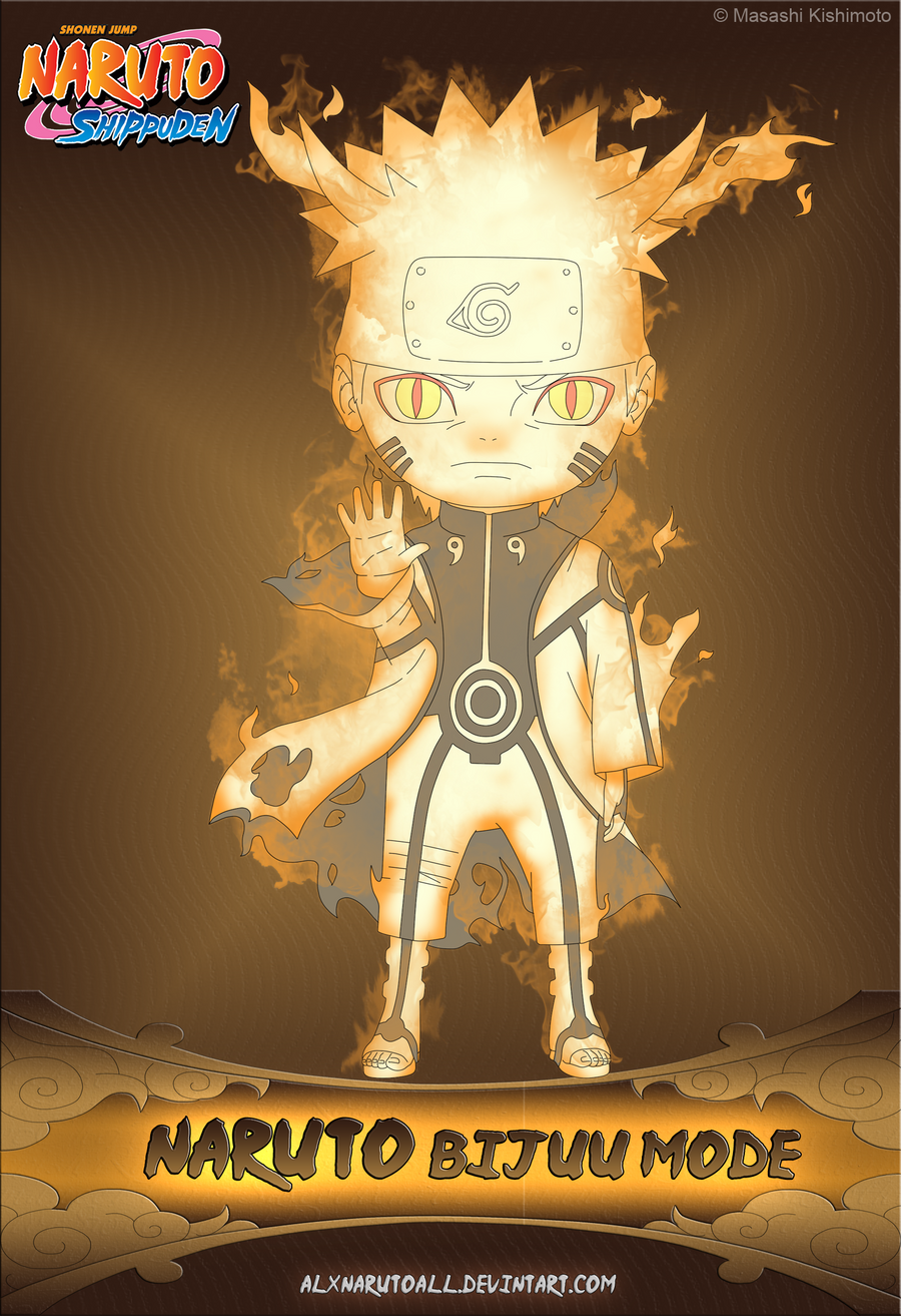 Naruto Bijuu Mode by alxnarutoall on DeviantArt