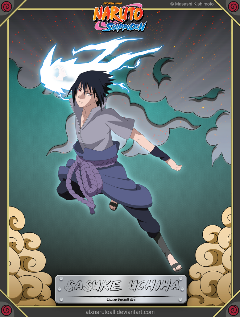 Sasuke Uchiha -Danzo Pursuit Arc- by alxnarutoall