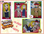Claire and Gray Handmade dolls by AngelCou