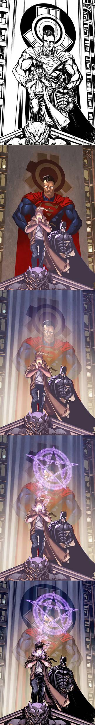 Injustice Y3 cover process