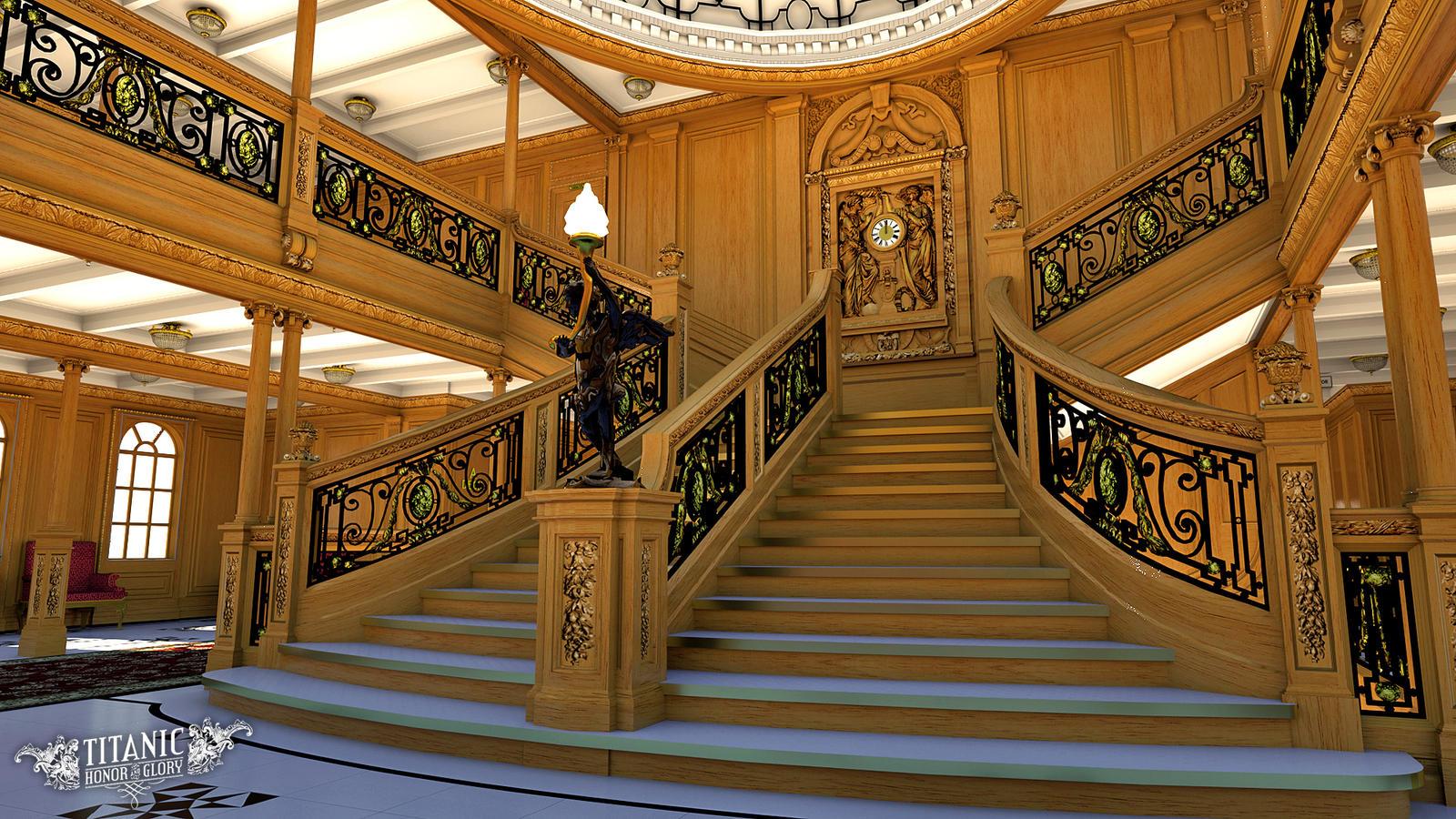 Titanics Grand Staircase By TitanicHonorAndGlory On
