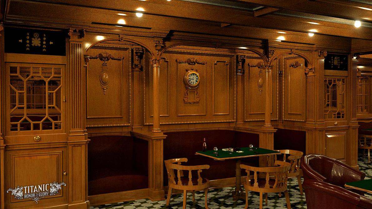 Titanic 39 S Second Class Smoke Room By Titanichonorandglory