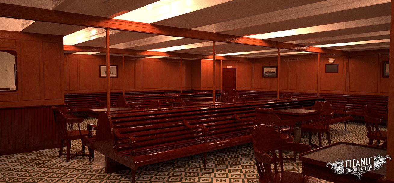 Titanicu0027s Third Class Smoke Room By TitanicHonorAndGlory ...