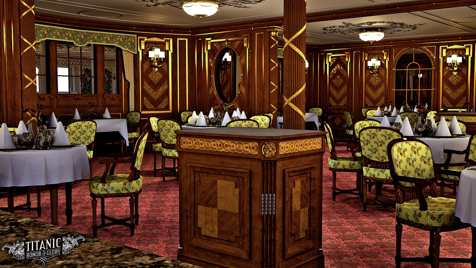 titanic s first class a la carte restaurant by titanichonorandglory titanic s first class a la carte restaurant by titanichonorandglory
