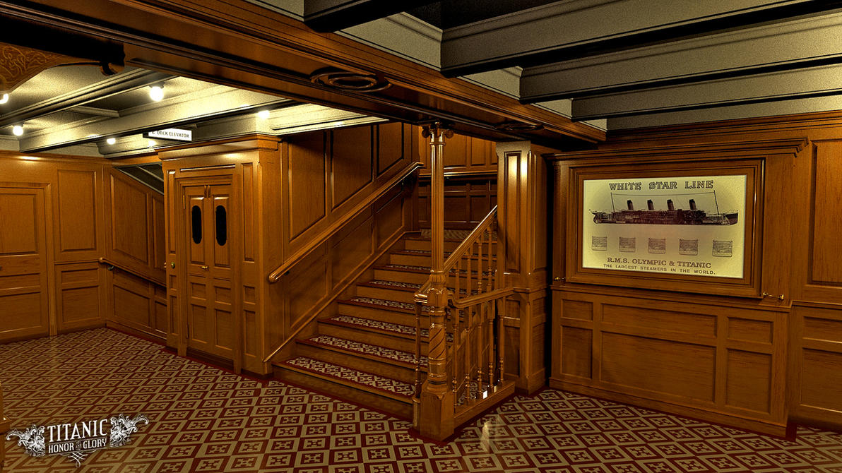 Titanic 39 S Forward Second Class Staircase By