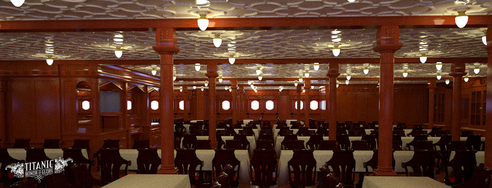 titanic s second class dining saloon by