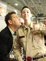 Arnold J Rimmer Cosplay - Meeting Lister by ruuwolf