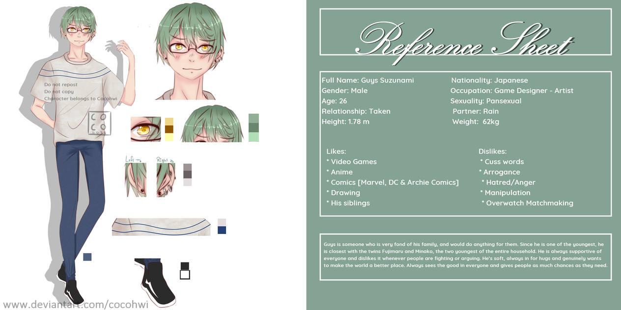 [Reference Sheet - OC] Guys Suzunami