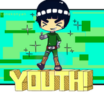 Rock Lee YOUTH tshirt design by Creativegreenbeans