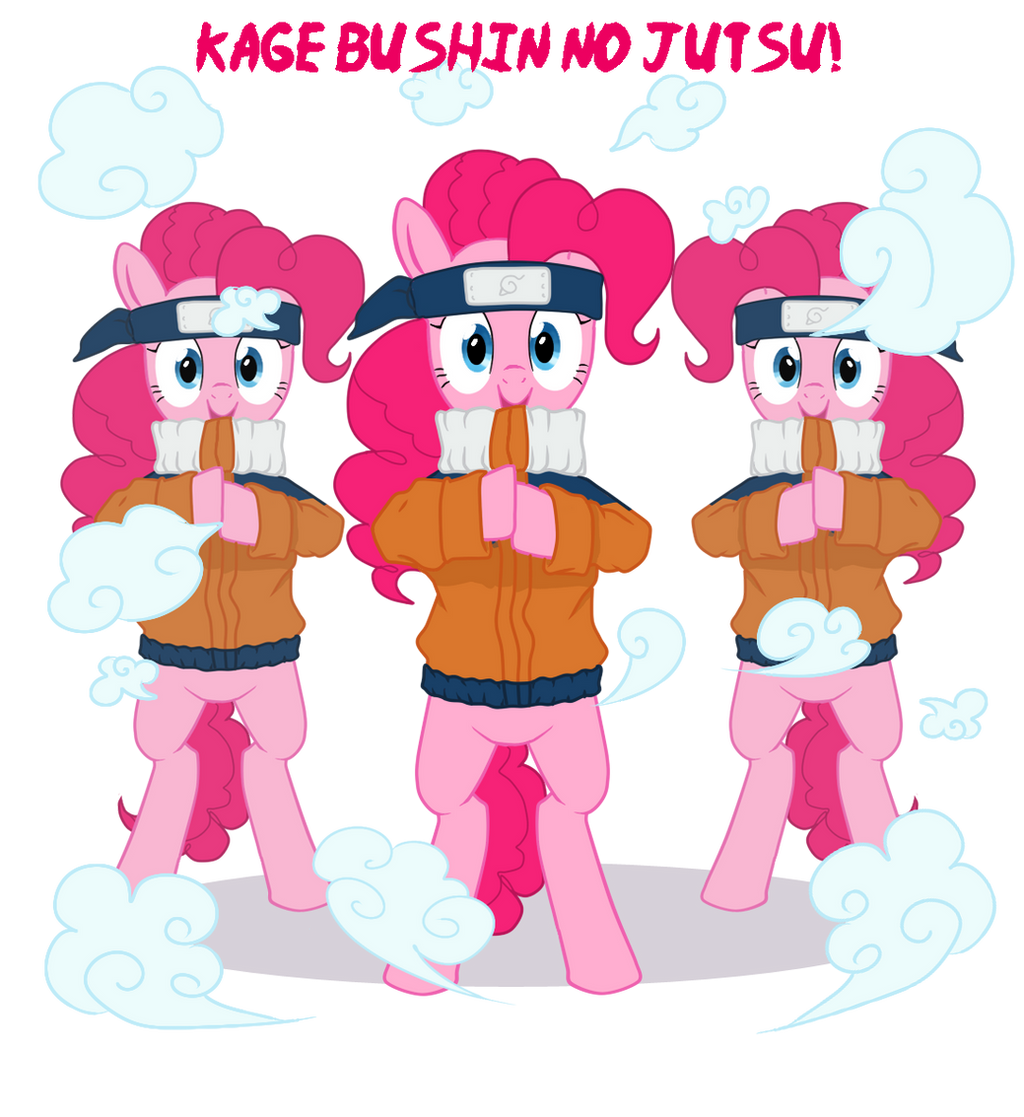 Pinkie Clone Jutsu by Creativegreenbeans