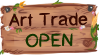 Art Trade Open Stamp by Aprilcutekitten