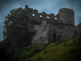 Ruins in the dark