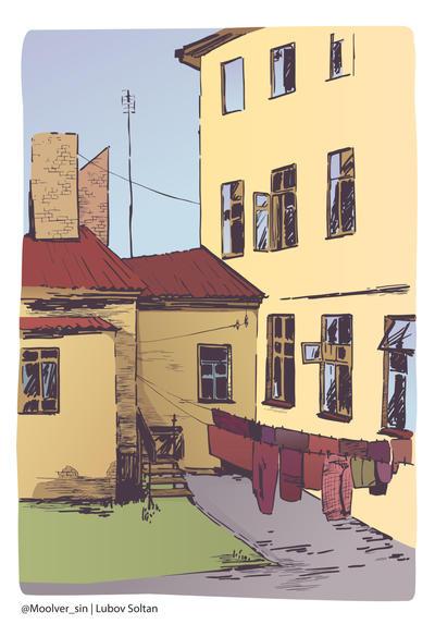 Little Backyard in Grodno by Moolver-sin