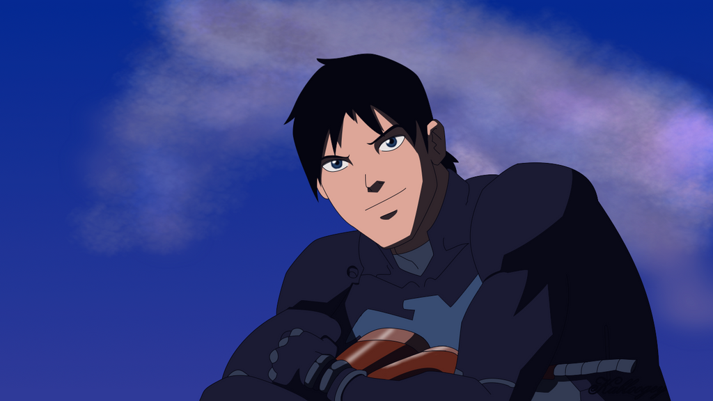 Nightwing unmasked way to get your feet wet by kabloogey on deviantart - Pictures of nightwing from young justice ...