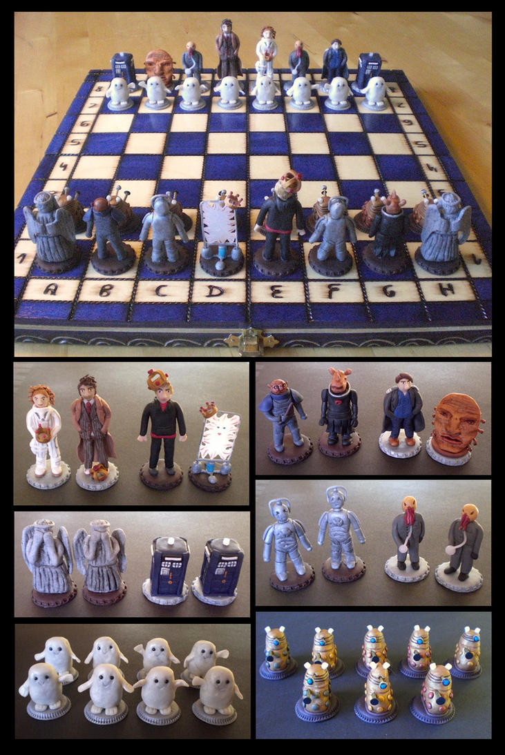 Doctor Who Chess Set by EldalinSkywalker