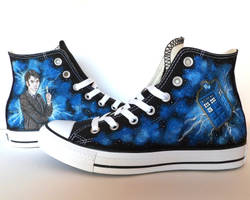 Doctor Who Converse ~ Ten and Tardis