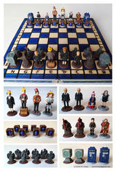 Doctor Who Chess set #2 by EldalinSkywalker