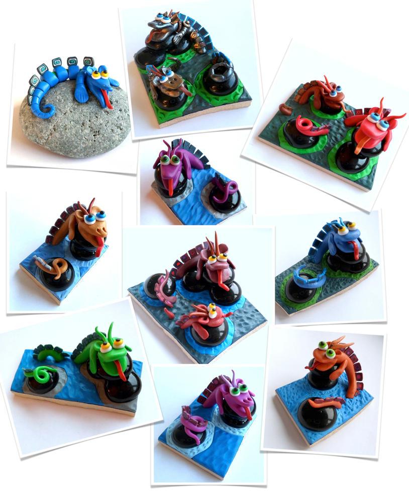 Dragon-like creatures by EldalinSkywalker