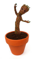 Inevitably, a dancing baby Groot by EldalinSkywalker