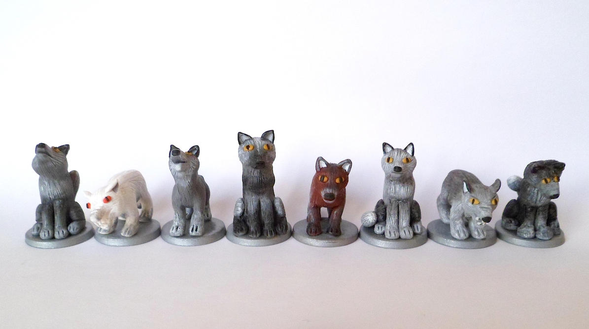 Direwolf pawns - Game of Thrones by EldalinSkywalker