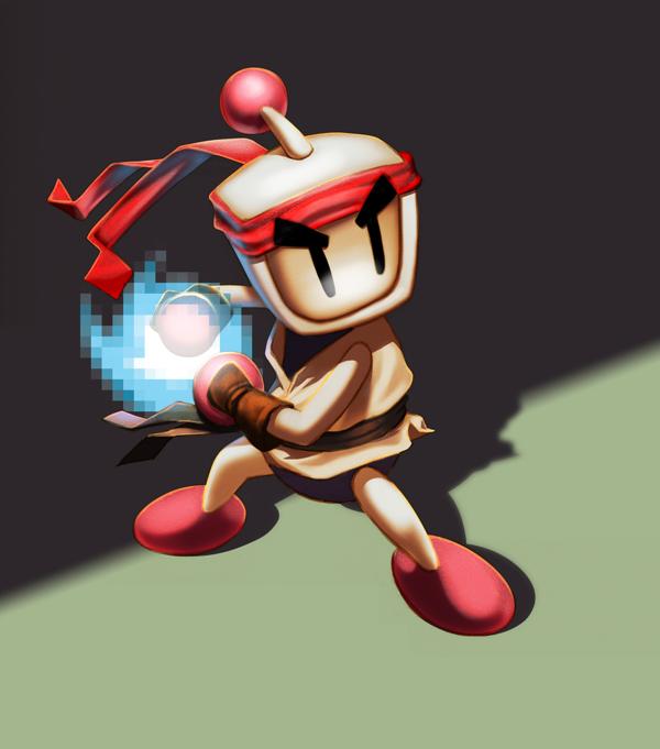 Bomberman/ Ryu by JorgeMV