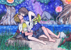 Yuna and Tidus at Macalania by Rikku-Al-Bhed-89