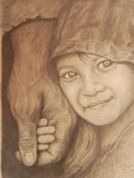 Sketch-In His Hands by Kooky-Crumbs