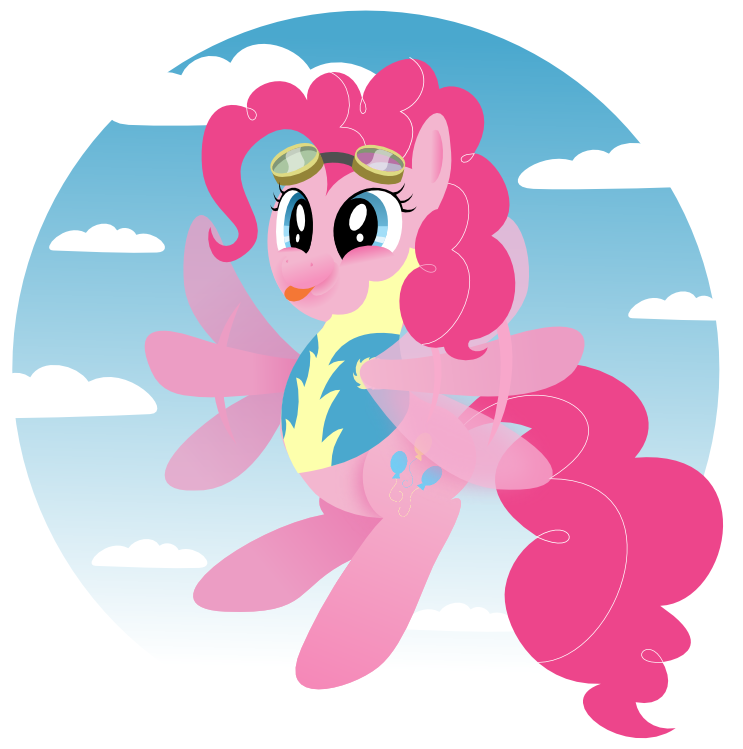 mlp pinkie pie the wonderbolt cadet by giantsquidie