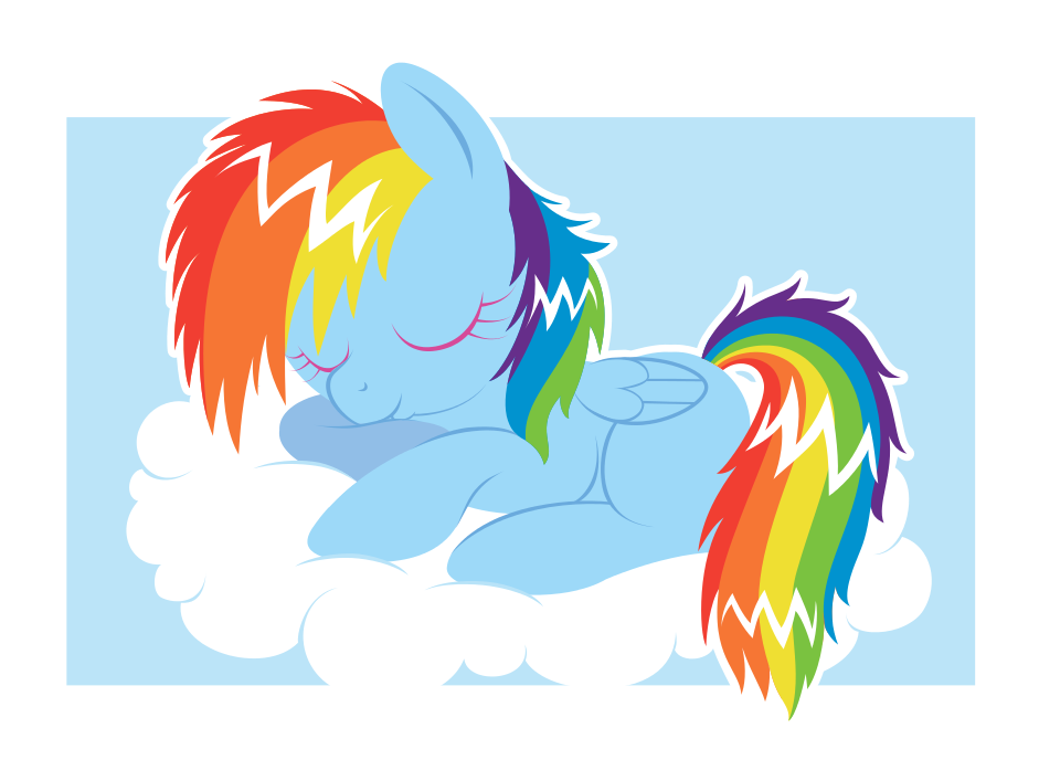 Dashie Dreaming by giantsquidie