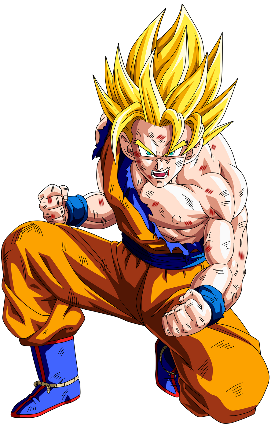 Displaying 19gt Images For Goku Ssj2 Face