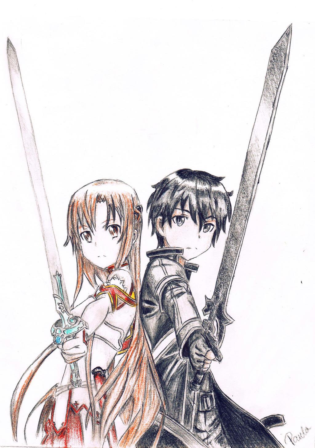 Kirito x Asuna SAO by Black33x