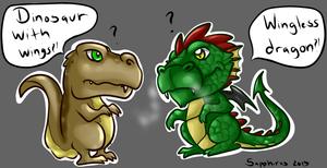 Dinosaur vs Dragon +Settling the differences+