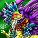 Colorful Wonderous Male Coatl Dragon +FR+