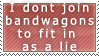 Because lying to be cool is AWSUM! STAMP by iSapphirus
