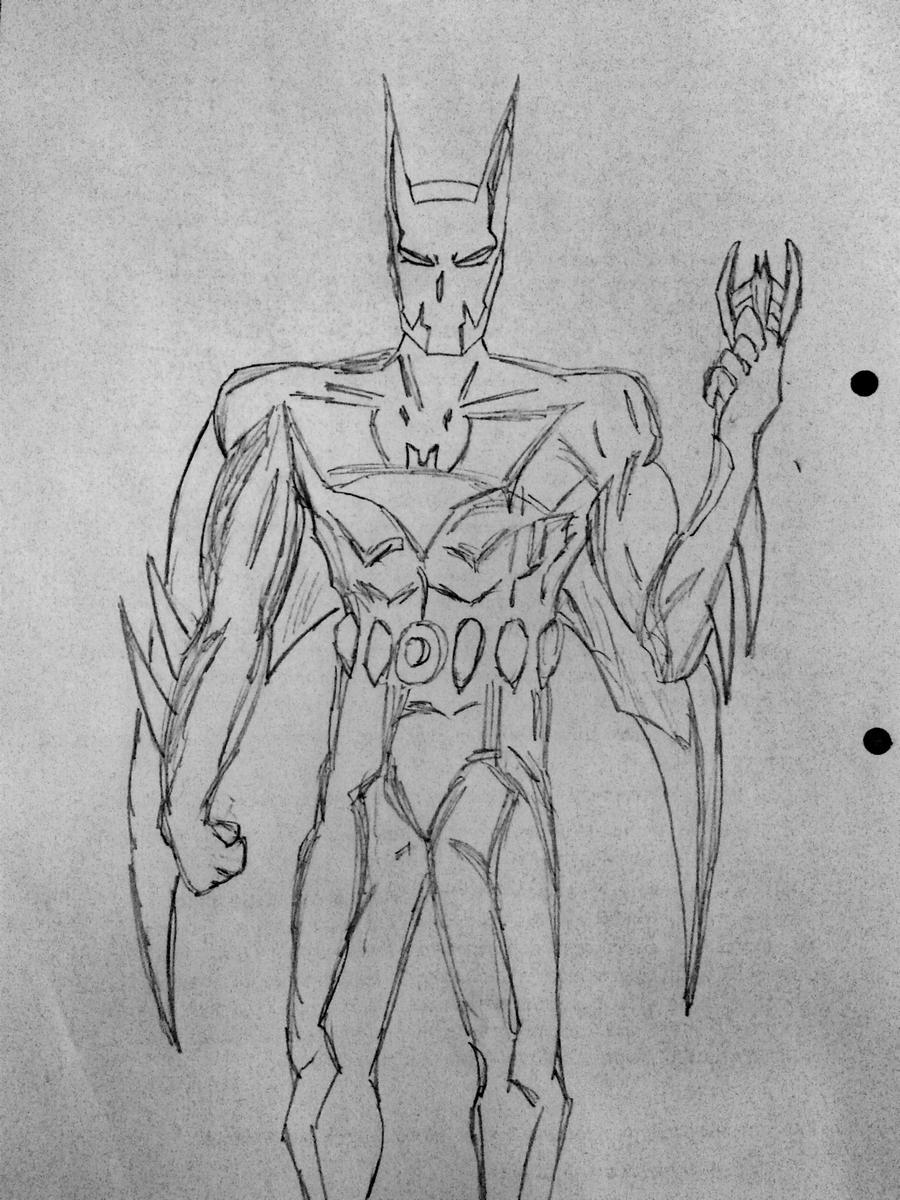 Batman Beyond Sketch By Ghost-overlord On DeviantArt