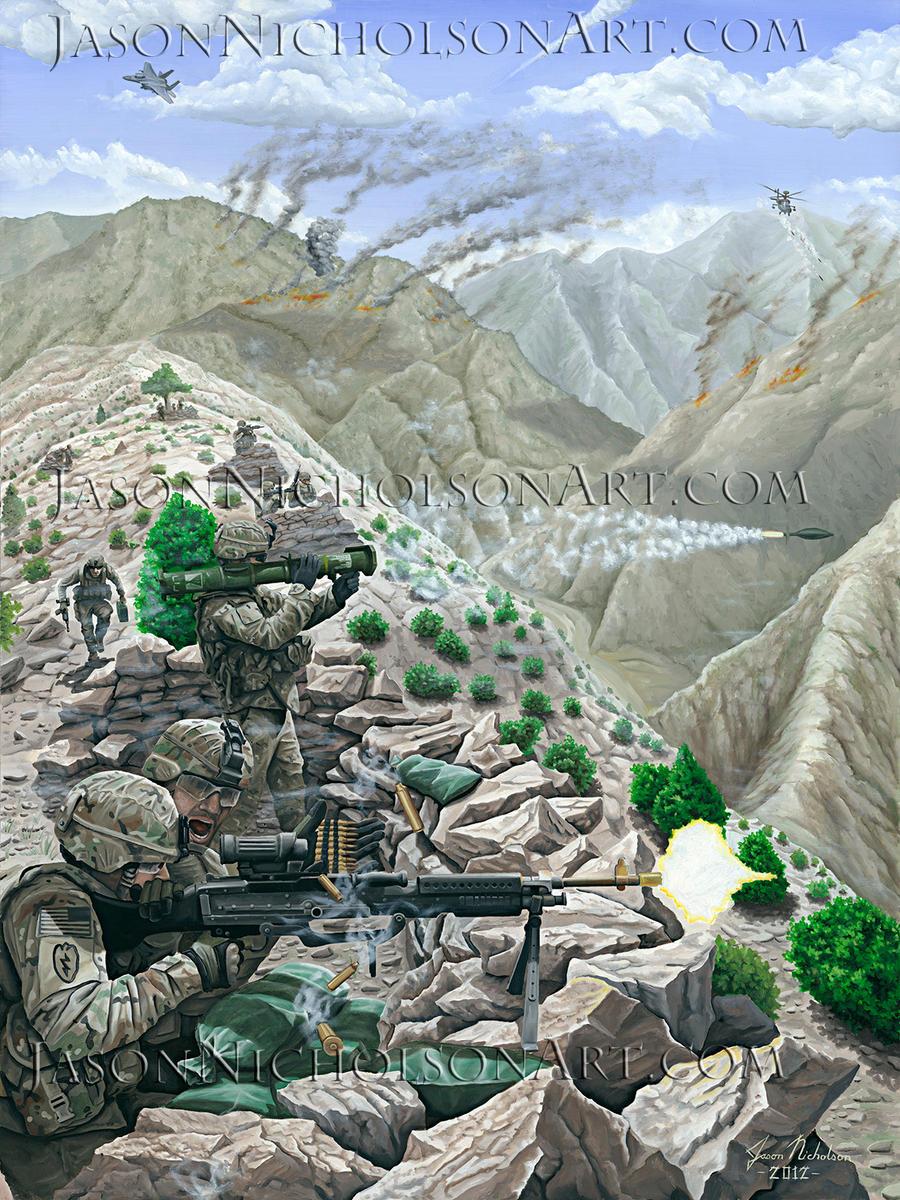 Battle of Gewi Ridge by JasonNicholsonArt