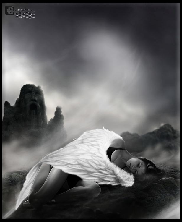 Sad angel by obaeda on deviantart - Sad angel wallpaper ...