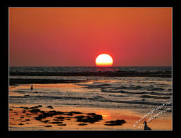 sunset on Amrum by albatros1