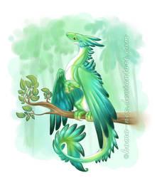 Feathery Dragon by homa-Nix