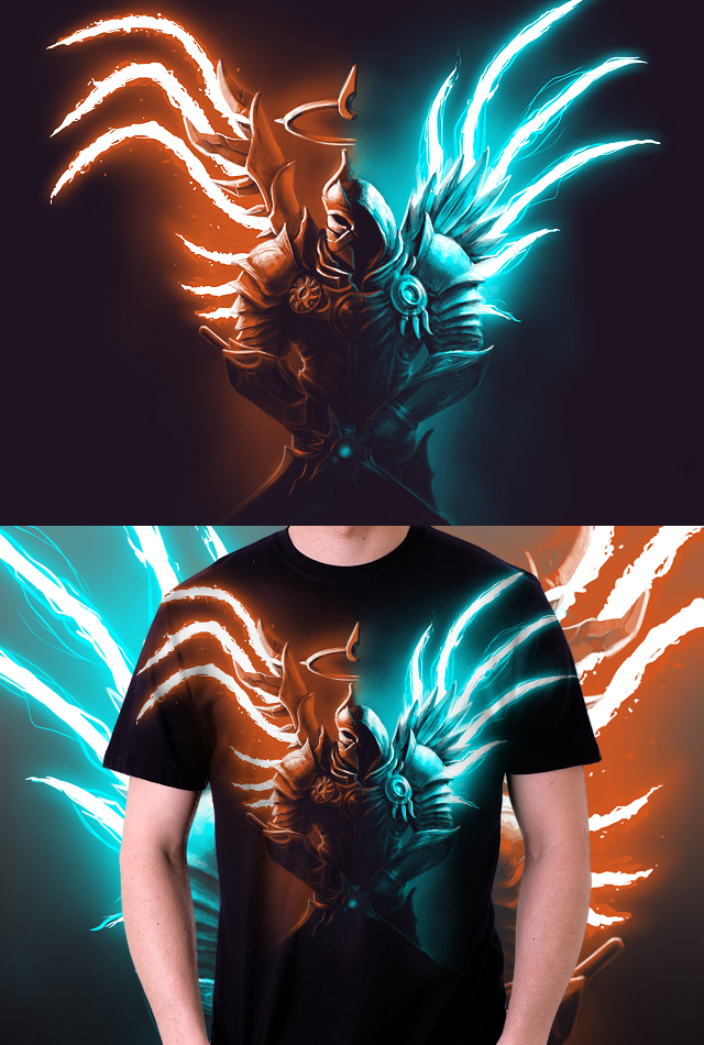 Justice and Valor Tshirt design by T-Tiger