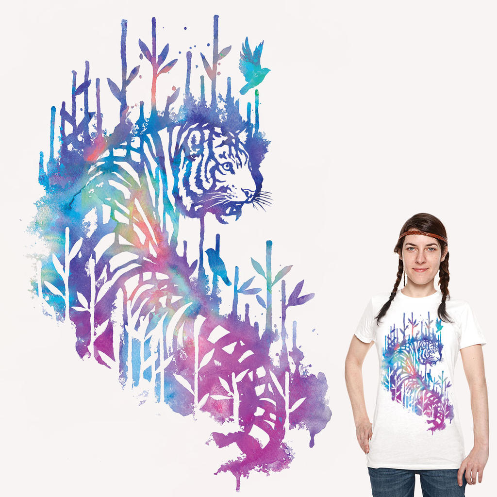 Watercolor tiger tee by T-Tiger