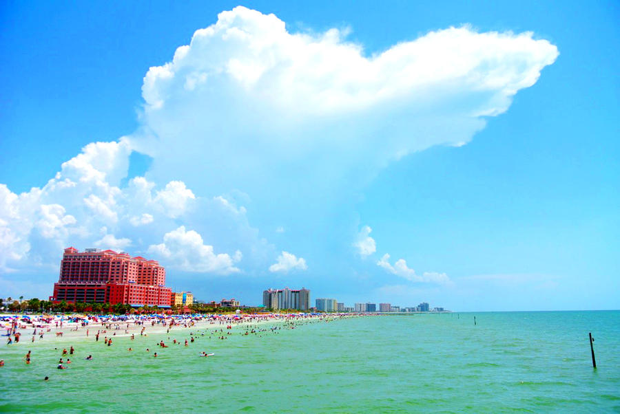 Wallpaper Clearwater Fl: Cumulonimbus Over Clearwater Beach, FL. By Element7374 On