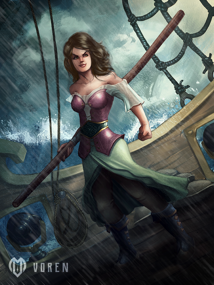Pirate Woman by VorenArt