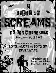 A Night of Screams Flyer by microfilm